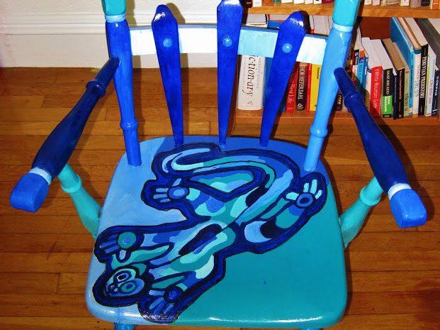 Blue Lizard Chair by Andrew Novis